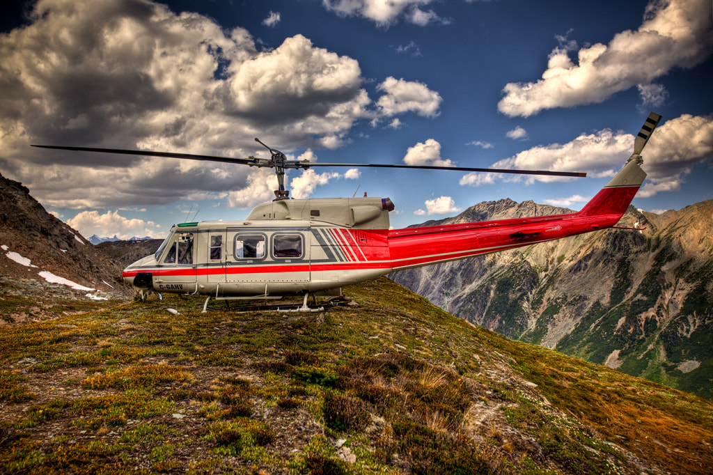 Photograph Huey Helicopter in the Canadian Rockies by Tony Mandarich on 500px