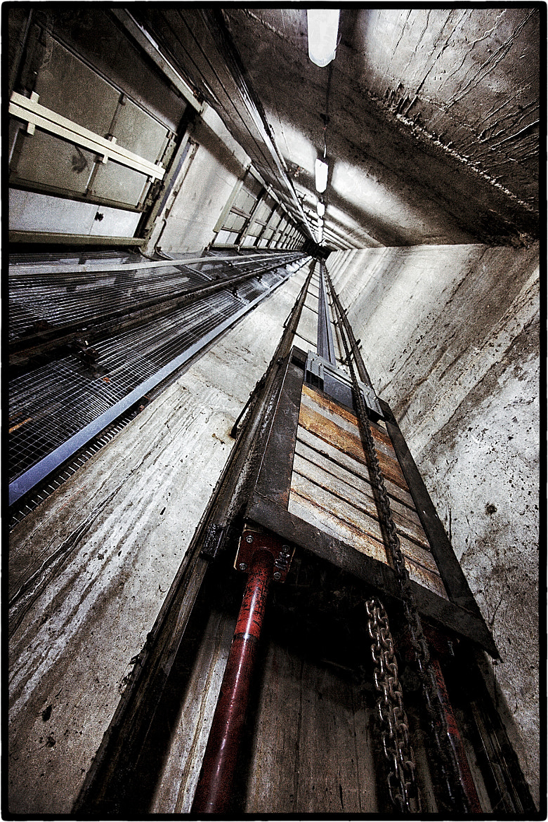 "Photograph ""Elevator for the scaffold"" by PERLES Jean-Guy on 500px"