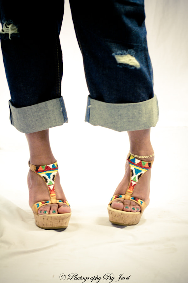 Photograph Native Print Shoes by J Coles on 500px