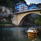 In the river. Basque Country