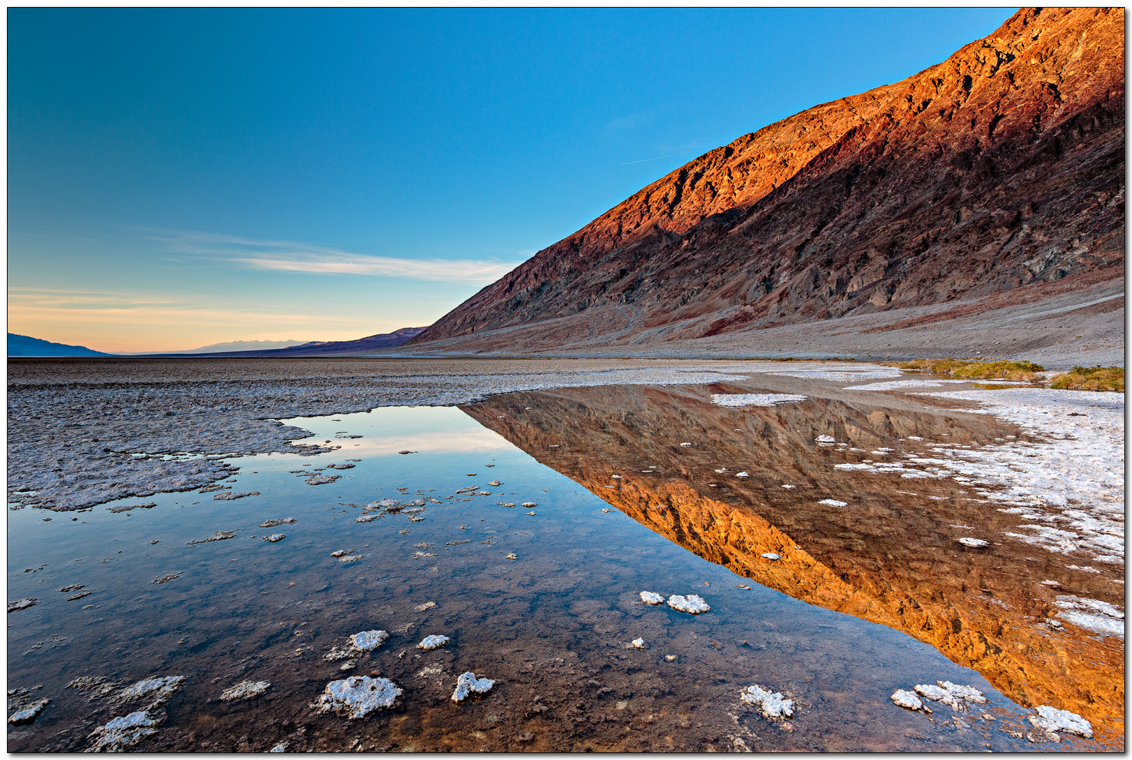 Photograph Badwater sunset reflection by Jameel Hyder on 500px