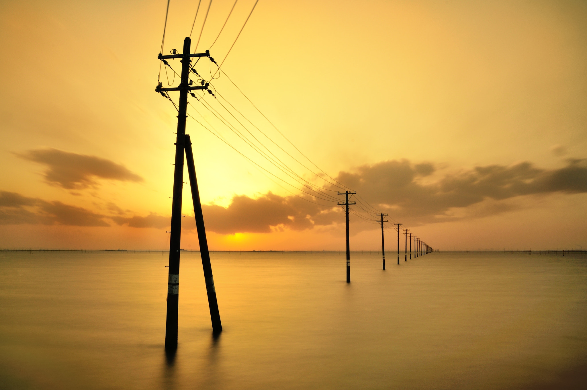 Photograph Utility Pole in the sea 2 by nao sakaki on 500px