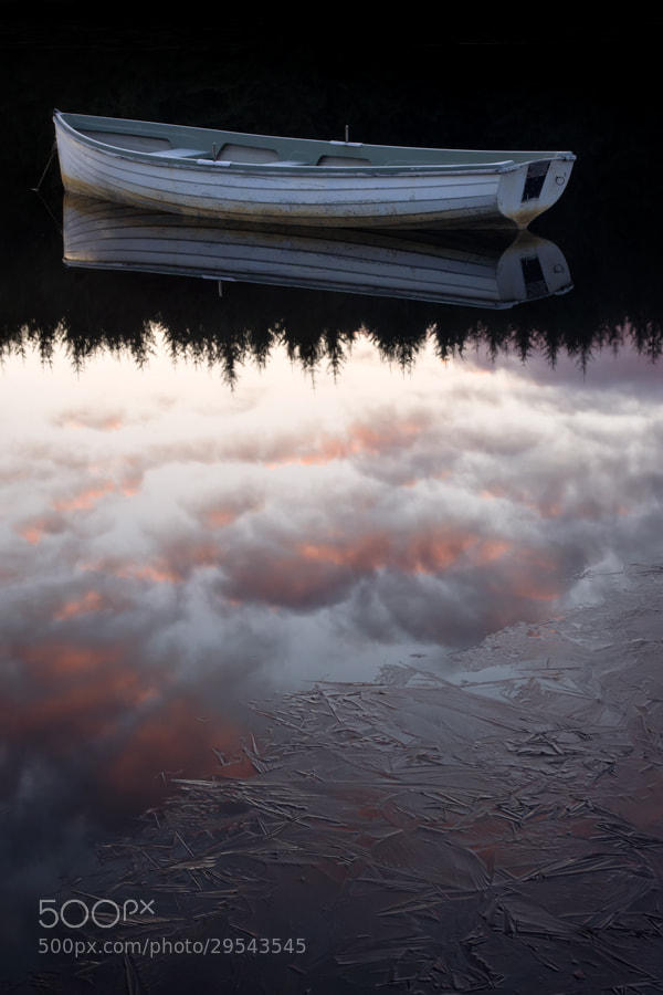 Photograph Icy sunrise... Loch Rusky, Trossachs by David Mould on 500px