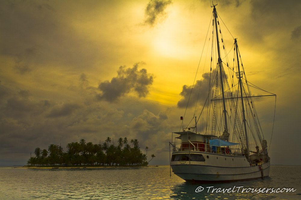 Photograph The Stahlratte yacht moored in the San Blas Islands by Travel Trousers on 500px