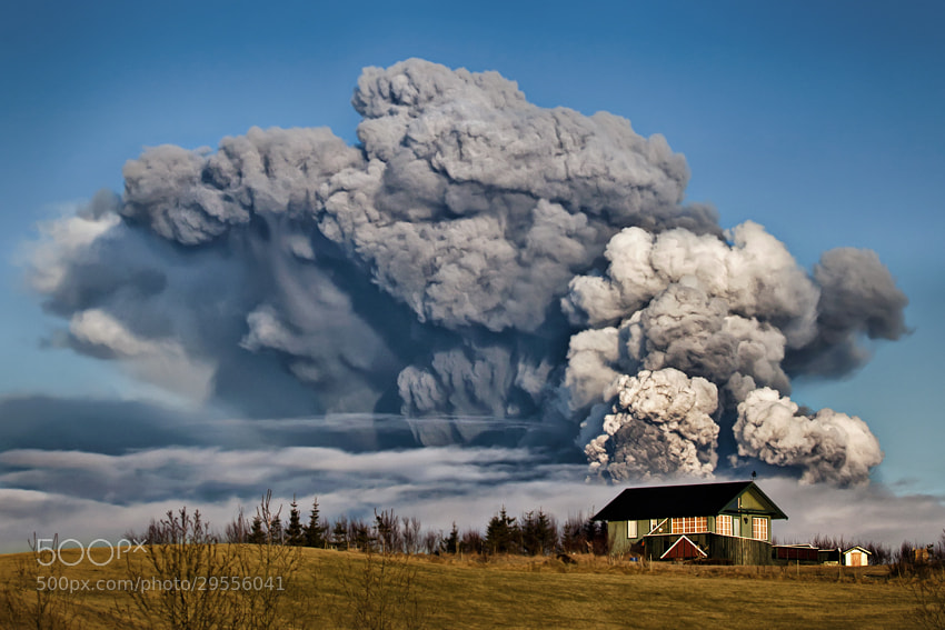 Photograph Eyjafjallajokull eruption 2010 Iceland by Gunnar Gestur  on 500px