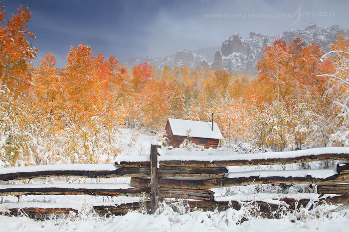 Photograph First Snow at the Cabin by Nate Zeman | natezeman.com on 500px