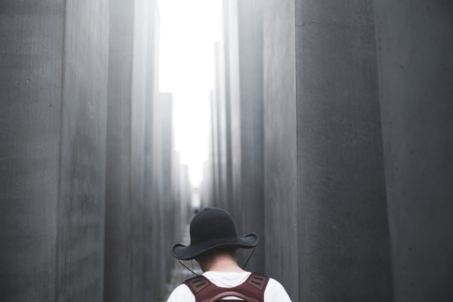 A woman at Holocaust Memorial, Berlin by Morten Byskov - 5050 Travelog on 500px.com
