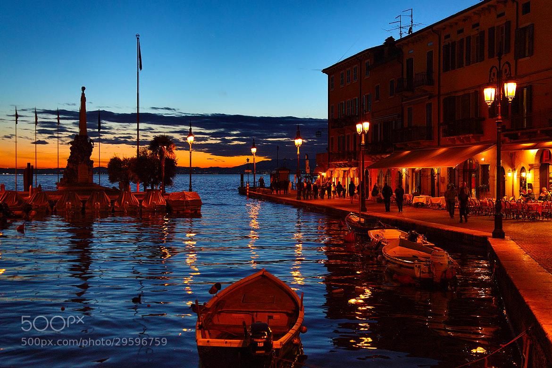 Photograph Sunset at Lazise,Garda Lake by Paolo Guidetti on 500px