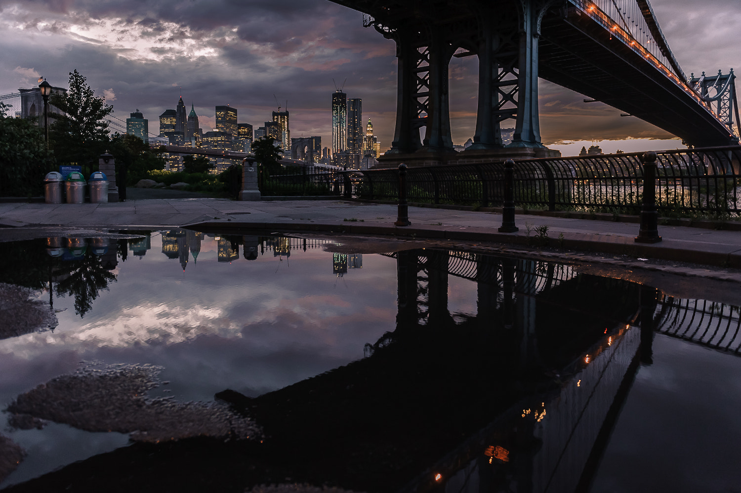 Photograph Sunset in DUMBO, Brooklyn by Guillaume Gaudet on 500px