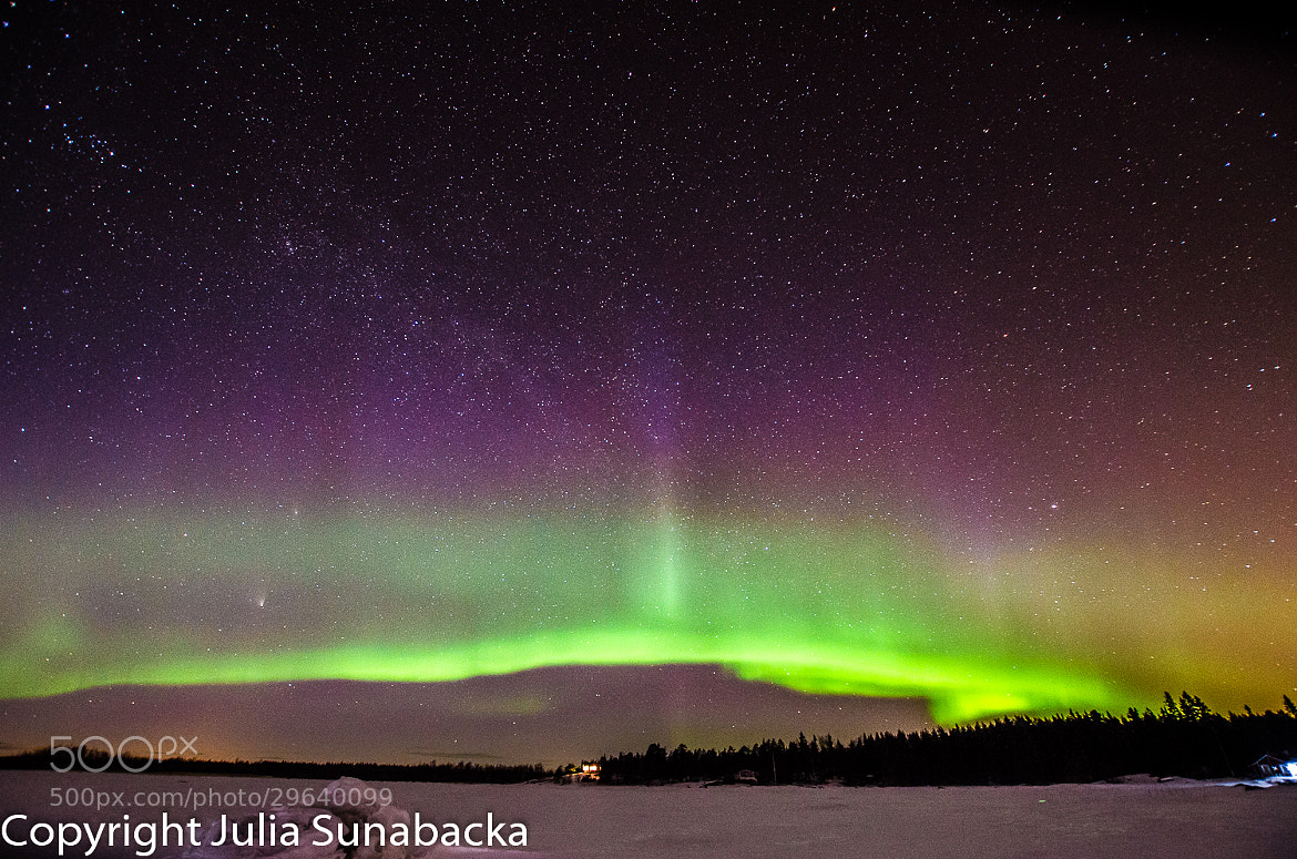 Photograph Aurora Borealis over Högön by Julia Sunabacka on 500px
