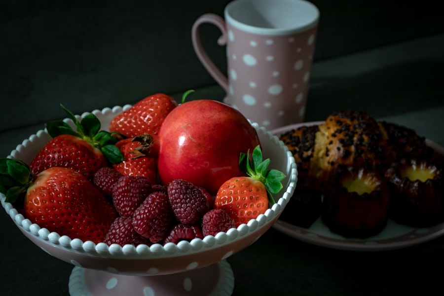 Raspberries, strawberries and pomegranates by JM Photography / 500px | @500px