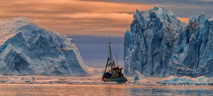 Photograph hard to the ice by Dionys Moser on 500px