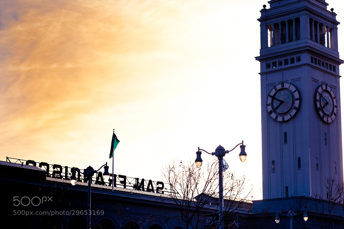 Photograph Ferry Building Sunset by Tony Boyajian on 500px