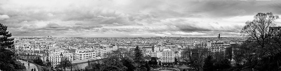 View from montmartre, paris.