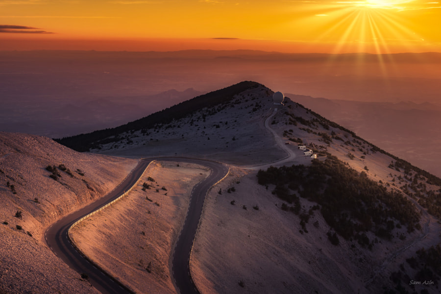 Mont Ventoux sunset by Sam Azln on 500px.com