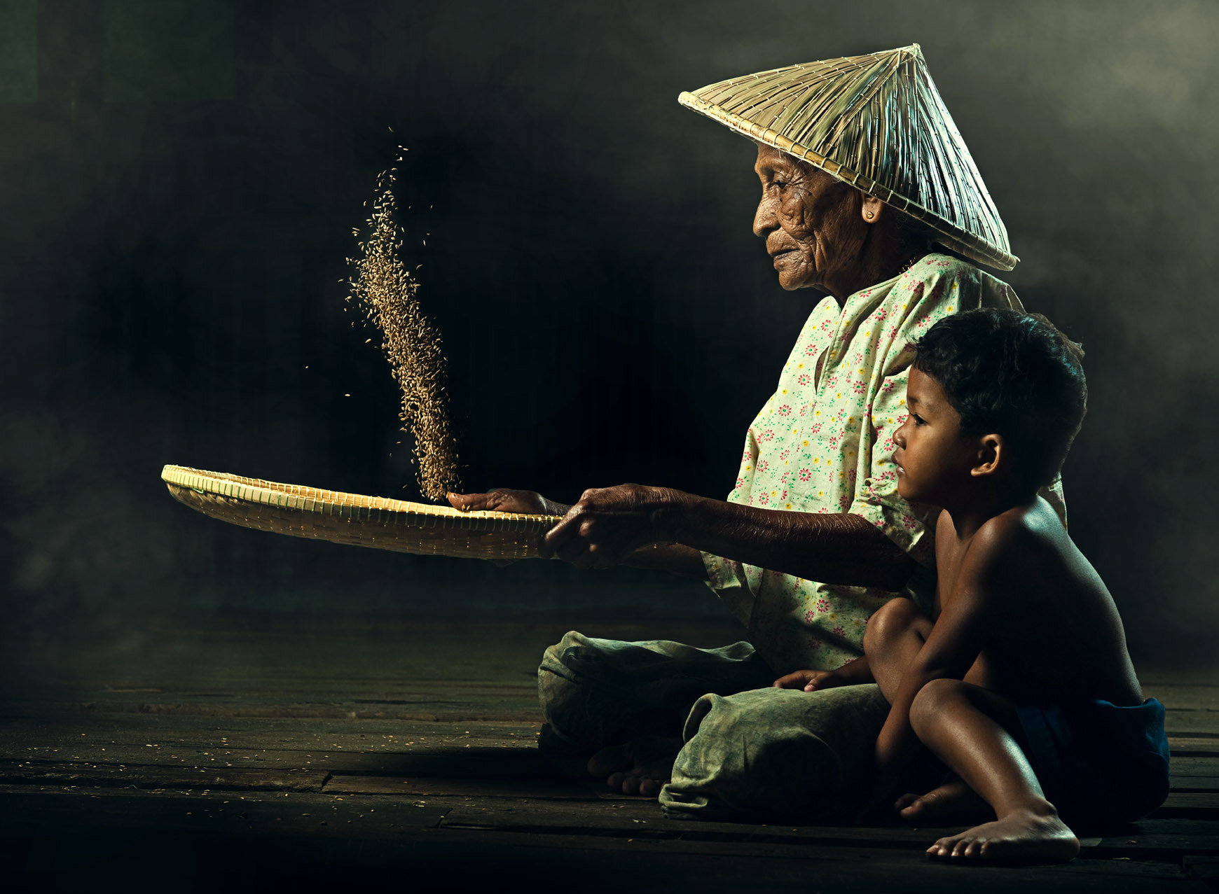 Photograph grandmother & grandson by abe less on 500px