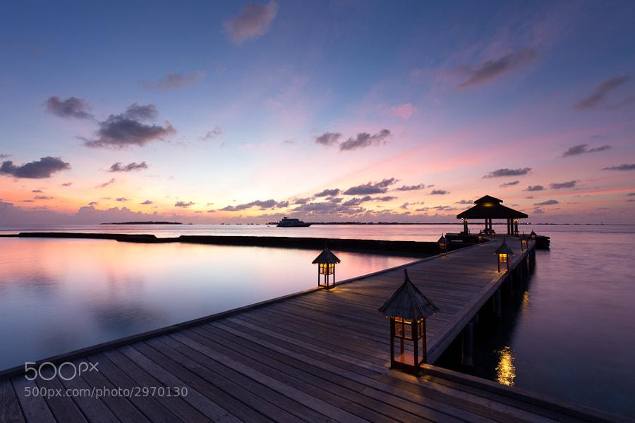 Photograph Kurumba jetty at dawn by John Q on 500px
