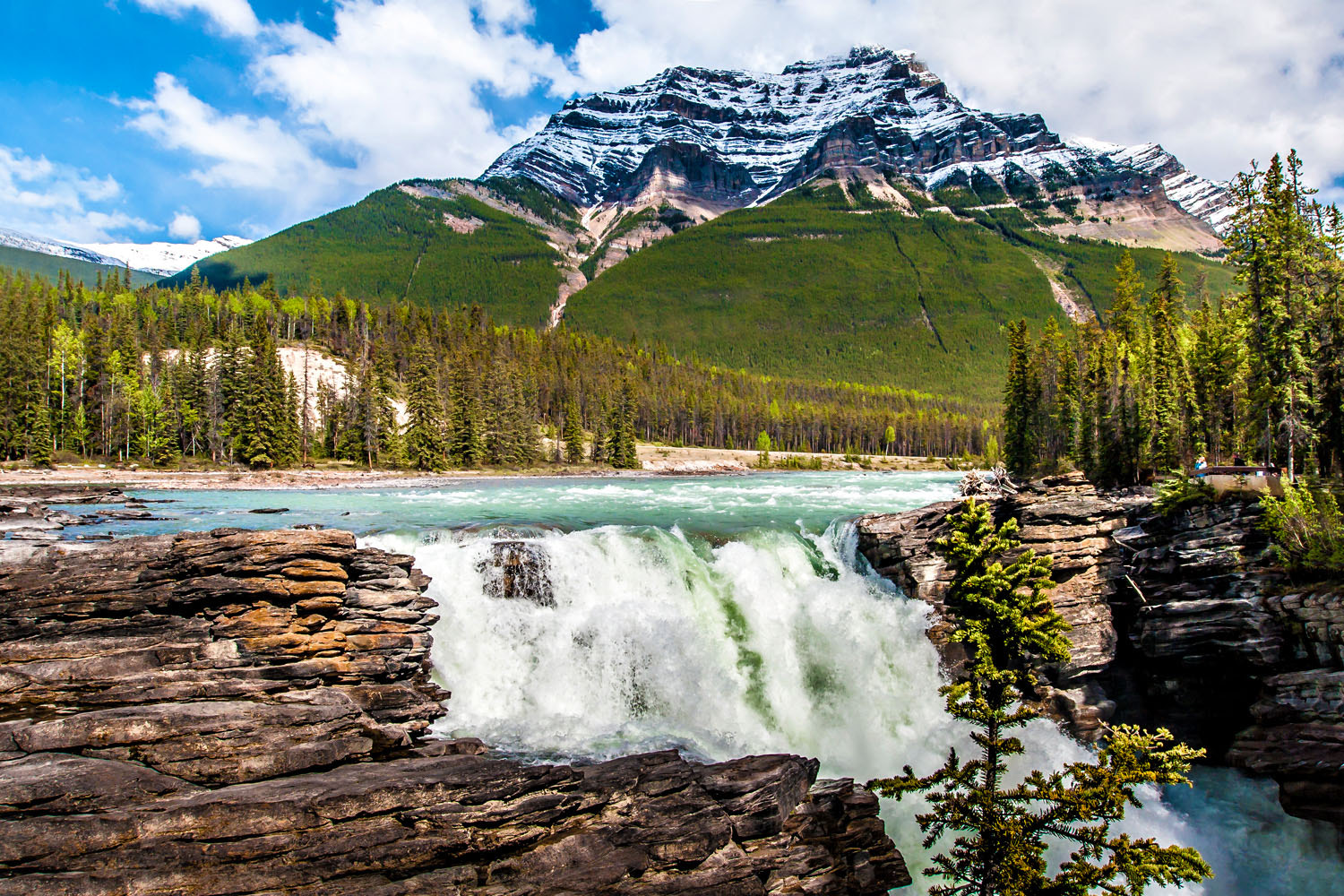 Photograph Athabasca Falls by Jesson Wong on 500px