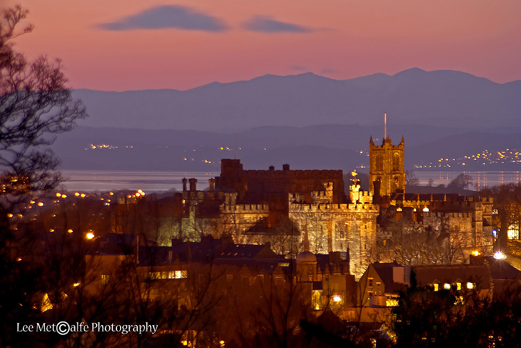 Photograph Lancaster Castle and the Fells at Dusk by Lee Metcalfe on 500px