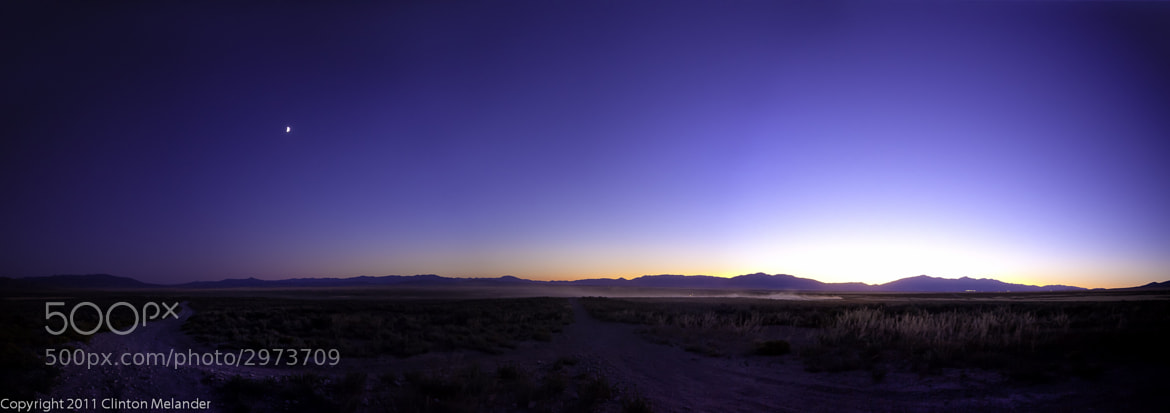 Photograph 2011-09-04 Utah West Desert Moon & Sunset, Panoramic by Clinton Melander on 500px