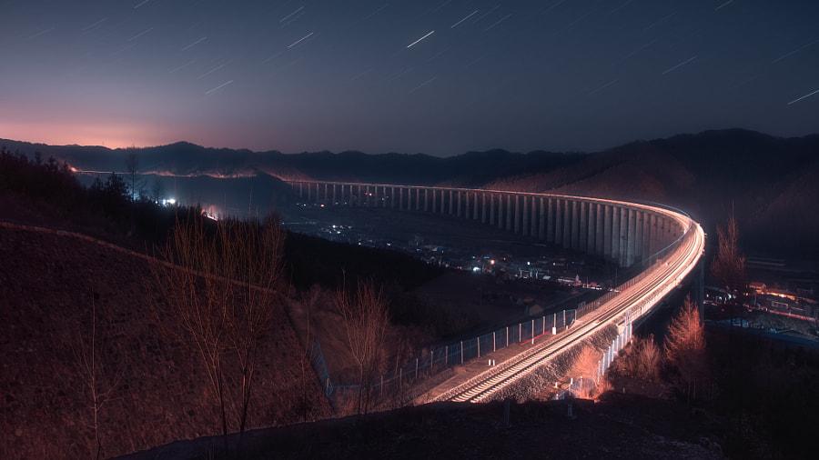 星夜下的大桥 by 眼睛 on 500px.com