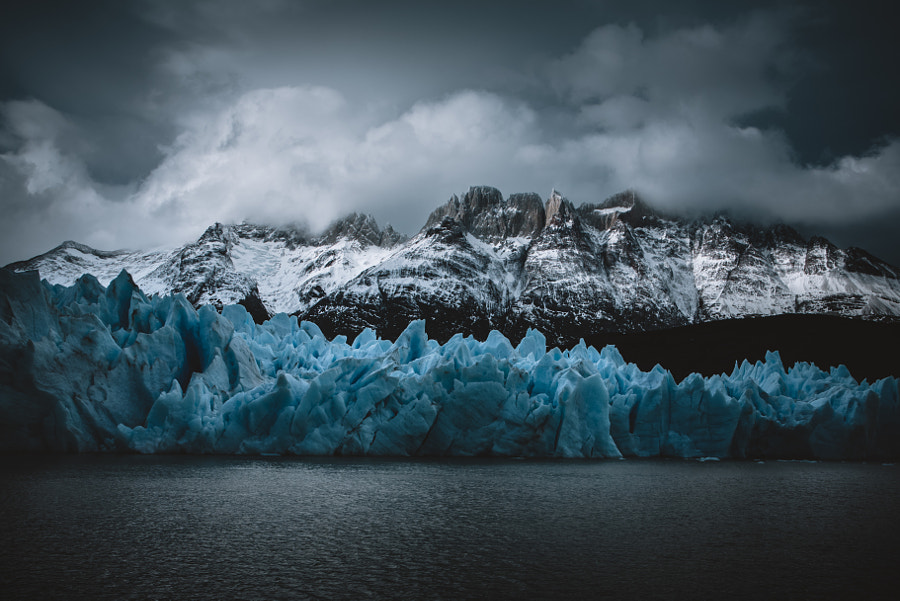 Blue Ice at Grey Glacier by David Pruter on 500px.com