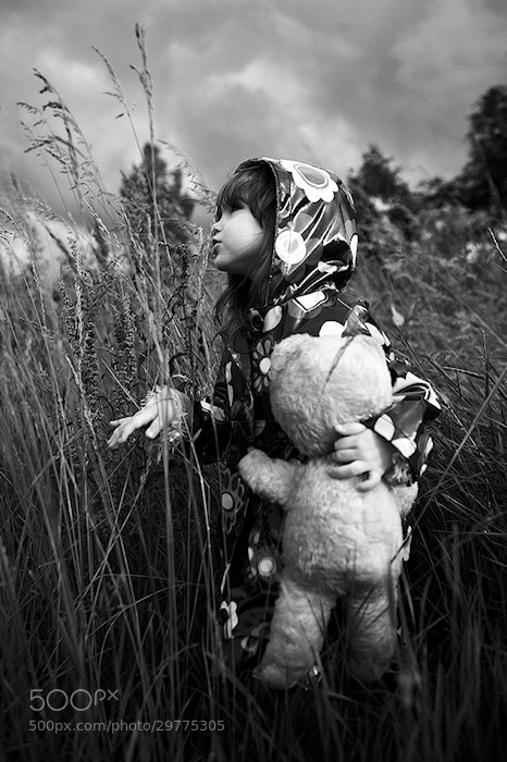 Photograph Girl with teddybear III by Kiril Stanoev on 500px