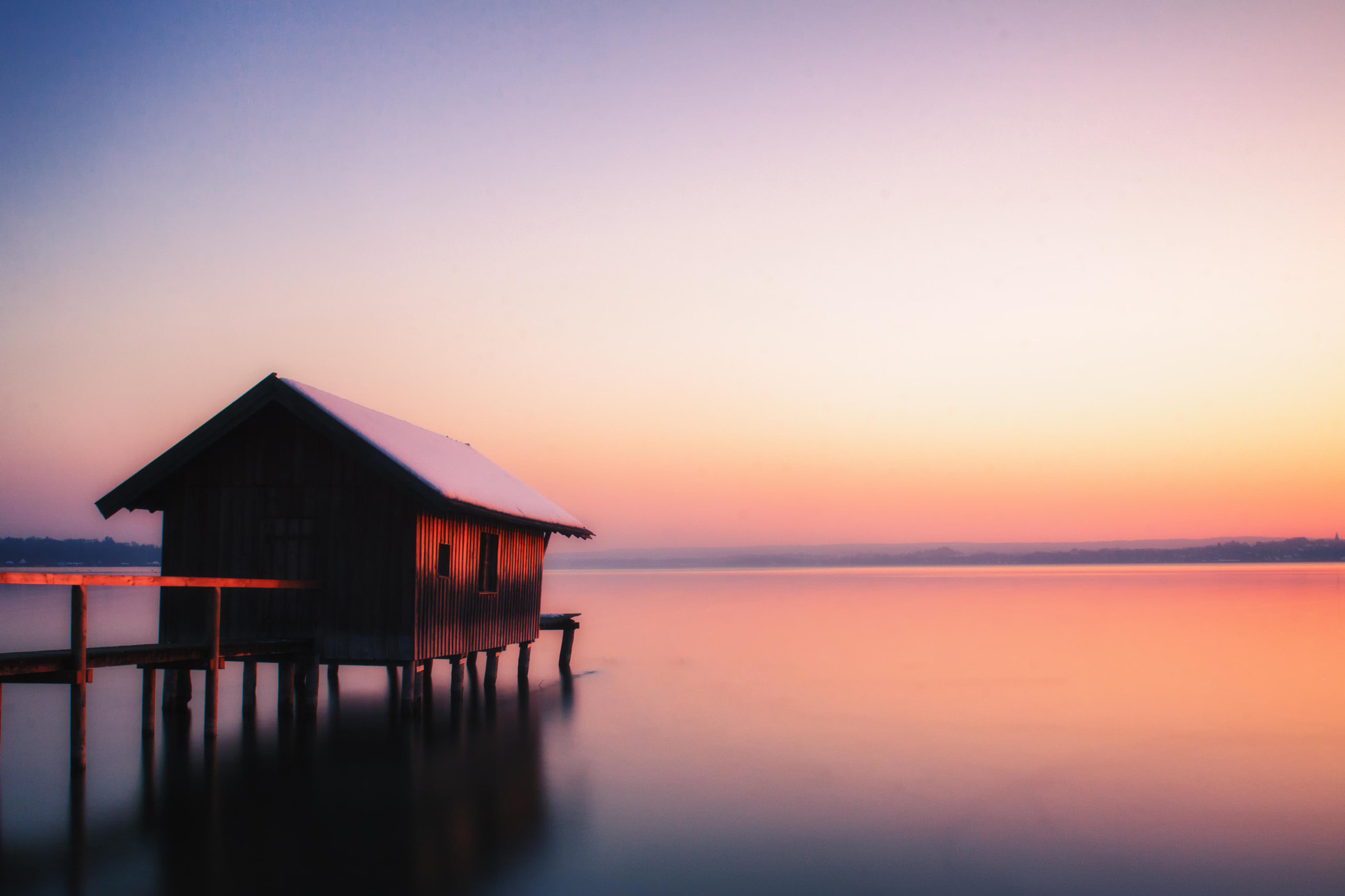 Photograph Sunset on Ammersee by Bettina  on 500px