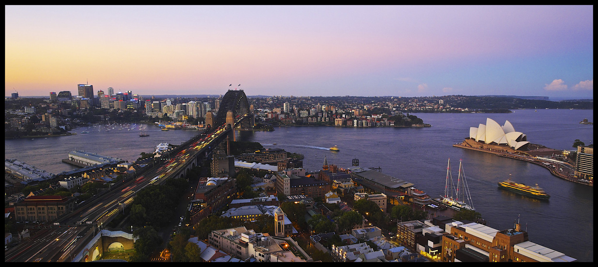 Photograph Sunset over Sydney Harbour by Rufo Taguiam on 500px