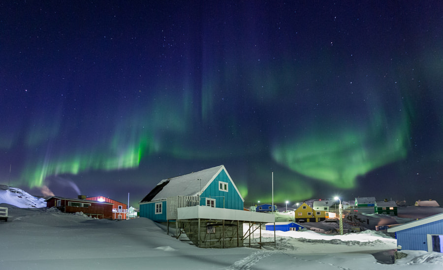 Aurora above the house by KS MOK on 500px.com