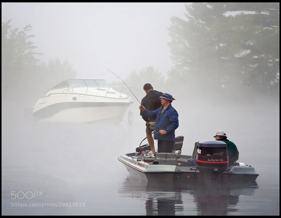 Photograph Fishing in the Fog by Alan Borror on 500px