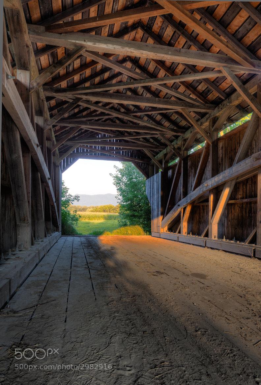 Photograph Inside the Gates Family Bridge, Cambridge, Vermont. by Stanton Champion on 500px
