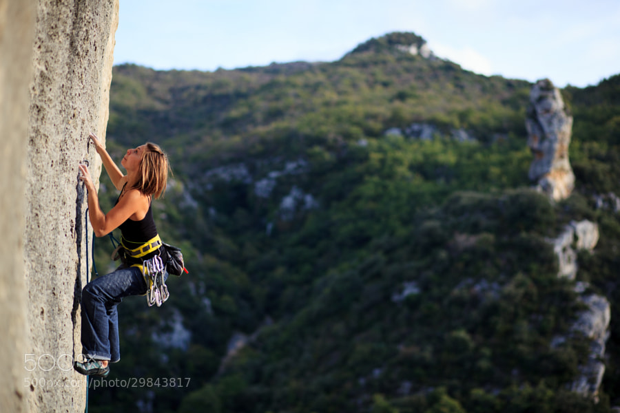 The classic 7c of secteur No Man's Land, Buoux
