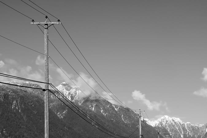 Power Lines - Winter Road Trip