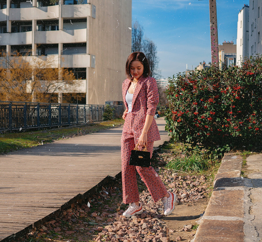 Colorful pantsuit by Yay Miu