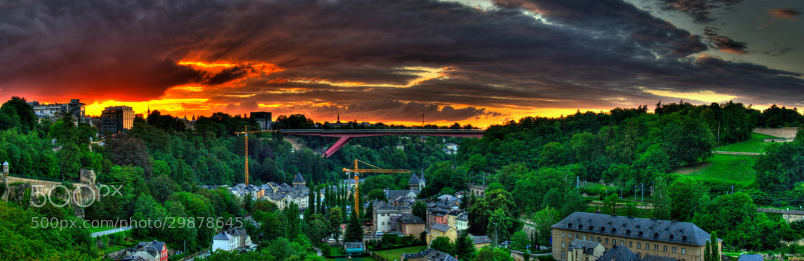 Photograph Sunset in Luxembourg by Jared Larson on 500px