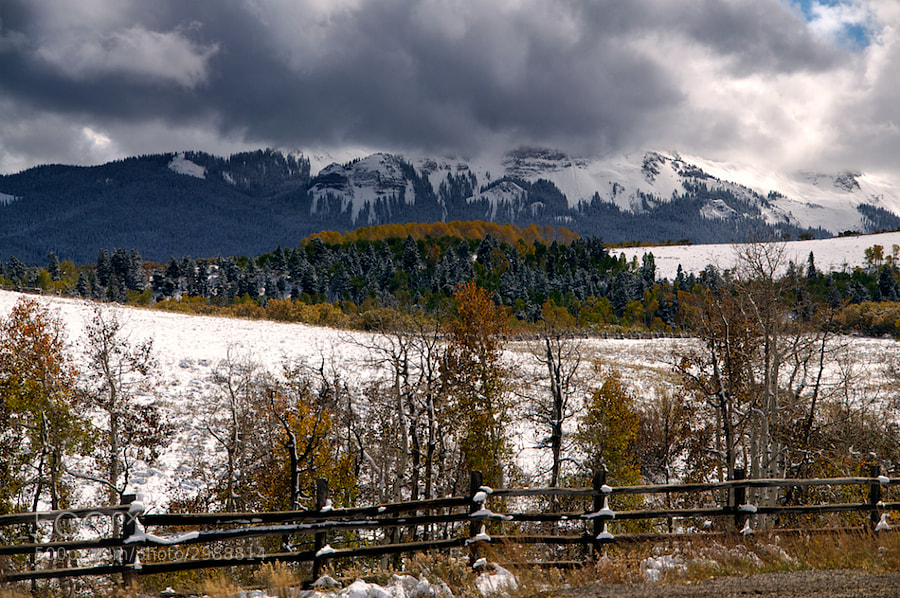 West of Ridgeway, CO is the Dallas Divide, it is one of the prettiest spots I saw while in Colorado. I was shooting into the sun and the clouds could have been a little better, but here's the shot I got. Not overly pleased but not terribly disappointed.