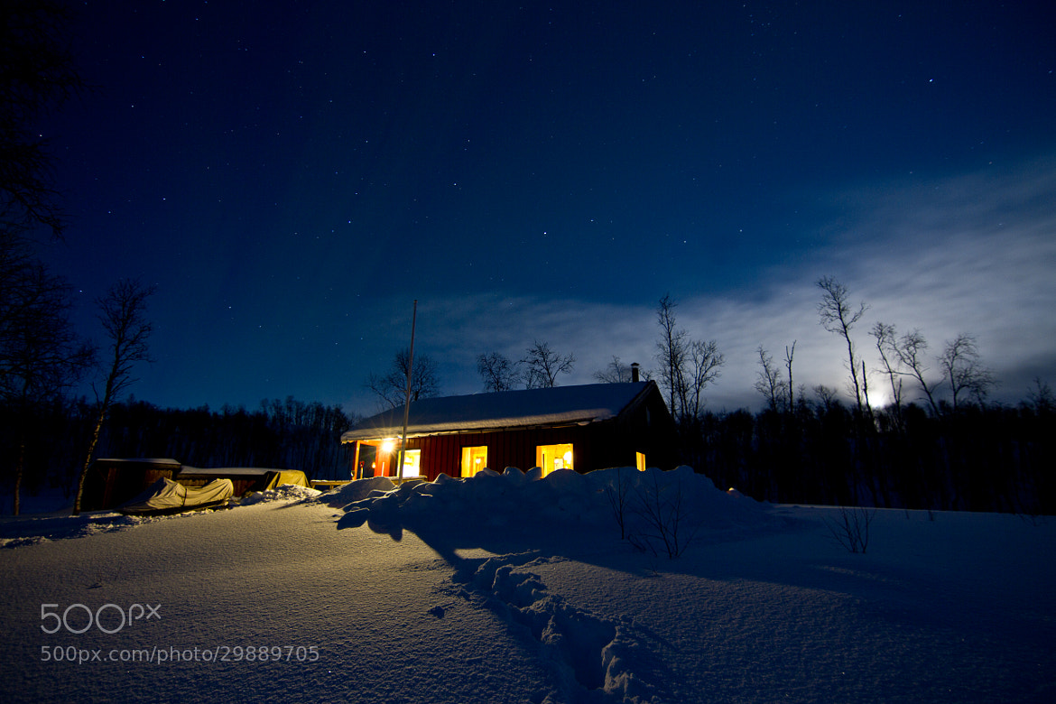 Photograph Cabin under the moonlight by Chris-André Paulsen on 500px
