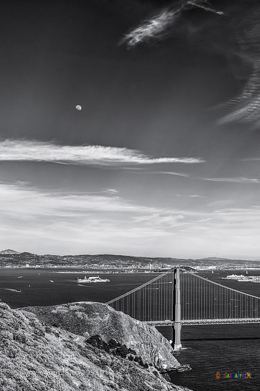 Photograph Moon Over Alcatraz by Satya M on 500px