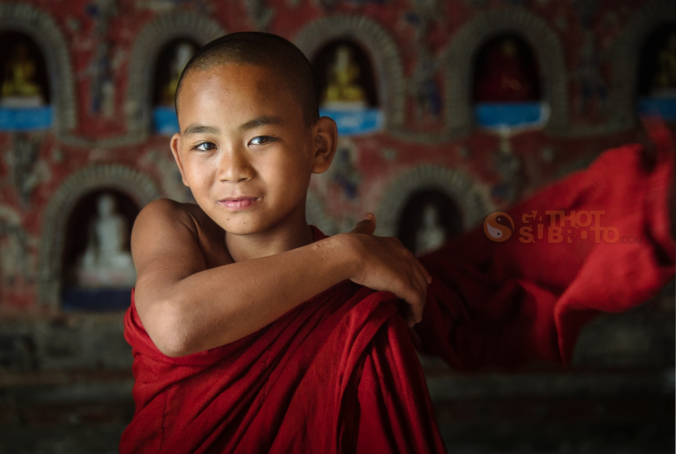 Photograph Cute Monk by Gathot Subroto on 500px