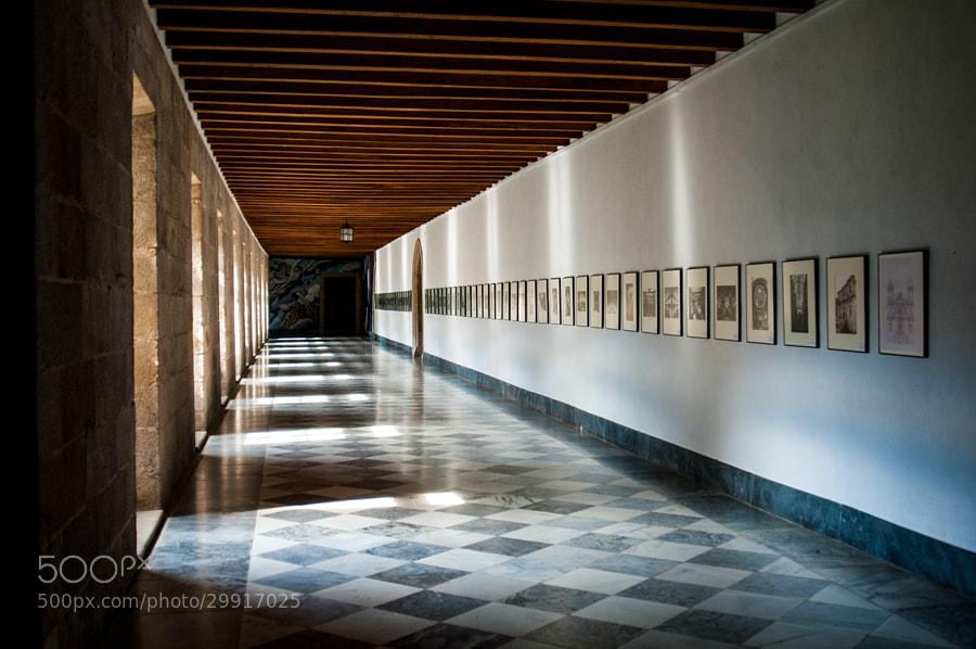 Samos  En el interior del Monasterio  En el claustro  _______________________  Samos  inside the Monastery  In the cloister