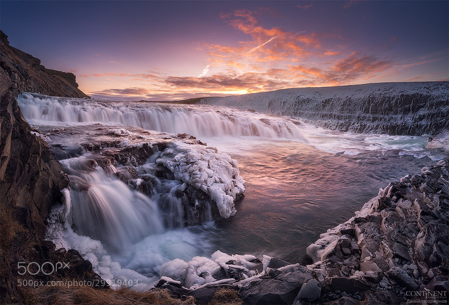 Golden waterfall by Daniel Korzhonov on 500px.com