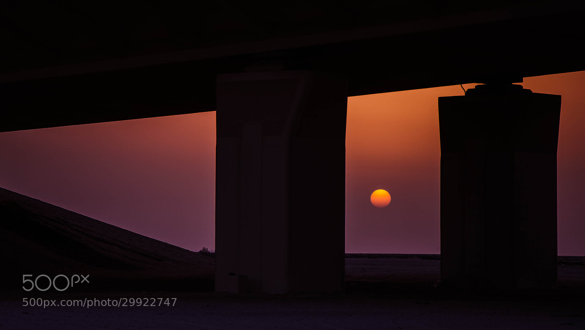 Photograph Sunset from under the Bridge by julian john on 500px