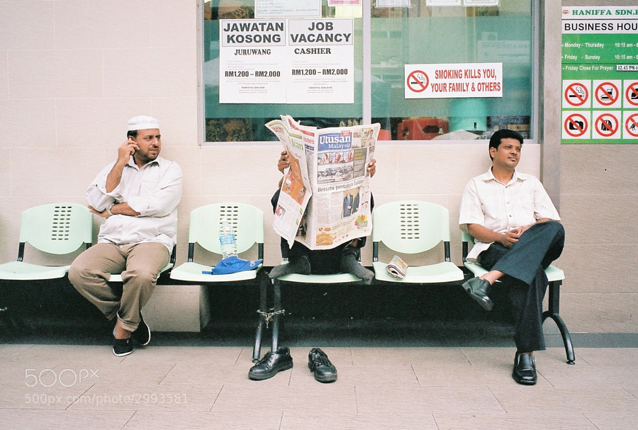 At Masjid India Street, Kuala Lumpur, Malaysia.