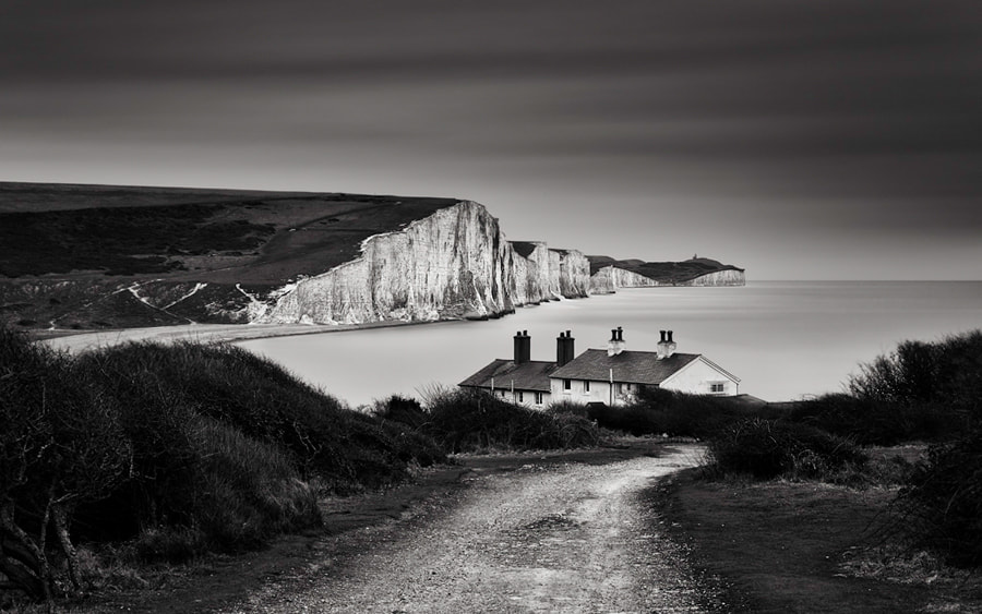 Photograph Cottages & cliffs by Trevor Cotton on 500px