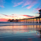 Pleasing Sunset at Huntington Beach Pier