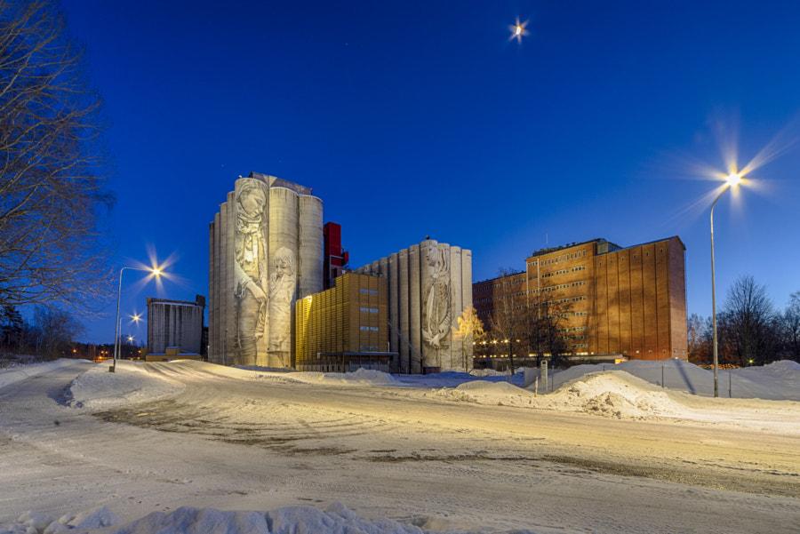 Guido van Helten's mural in Kantola, Hameenlinna by Markus Kauppinen on 500px.com