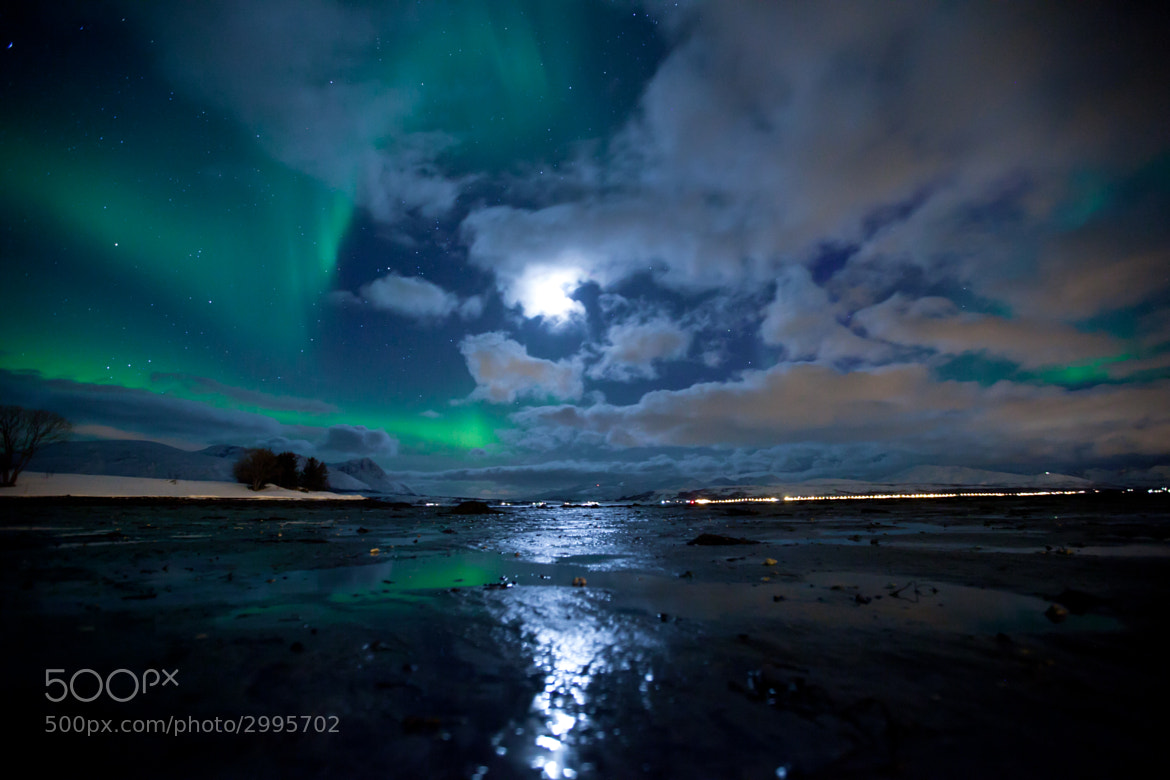 Photograph Aurora Borealis and moonlight by Tor Even Mathisen on 500px