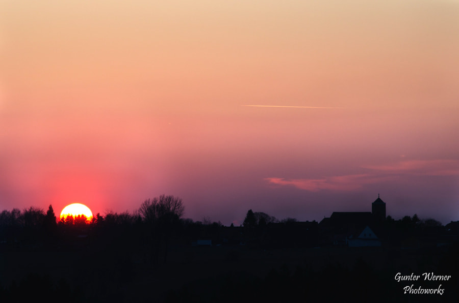 Photograph sunset in a village II by Gunter Werner on 500px