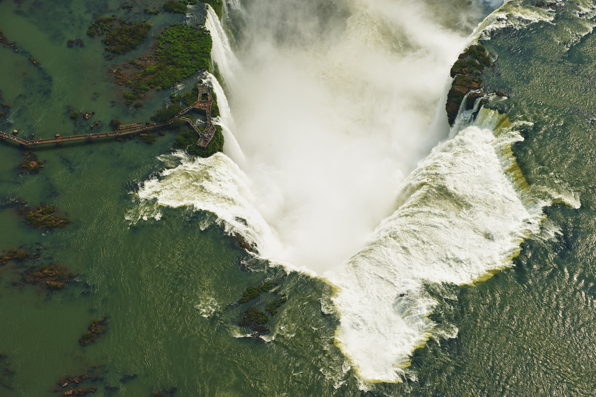 Photograph Aerial view of the Iguazu falls  by Chris Schmid on 500px